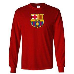 Youth Kids F.C. Barcelona Logo Soccer Long Sleeve
